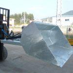 Ανυψωτικό οχήματος 3 τόνων με κάδο, υδραυλικός κάδος