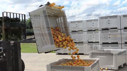 Κάδο απορριμματοφόρου ανατρεπόμενο πορτοκαλί